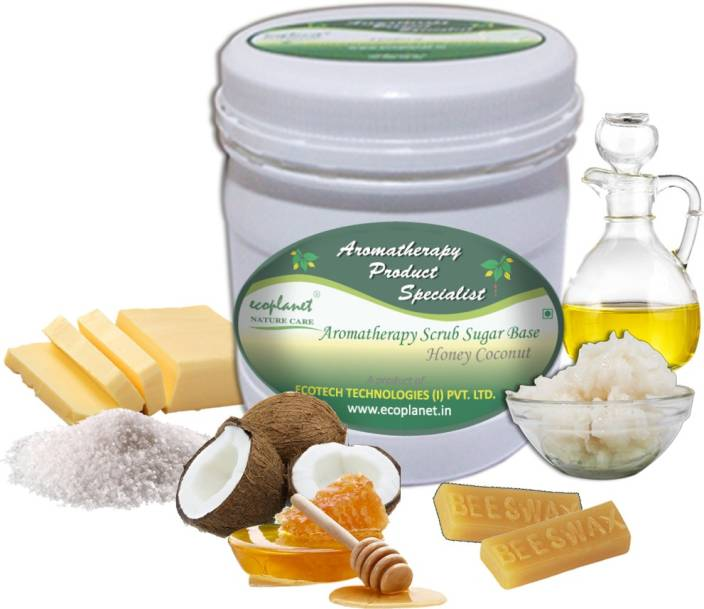 ecoplanet Aromatherapy Scrub Sugar Base Honey Coconut Scrub