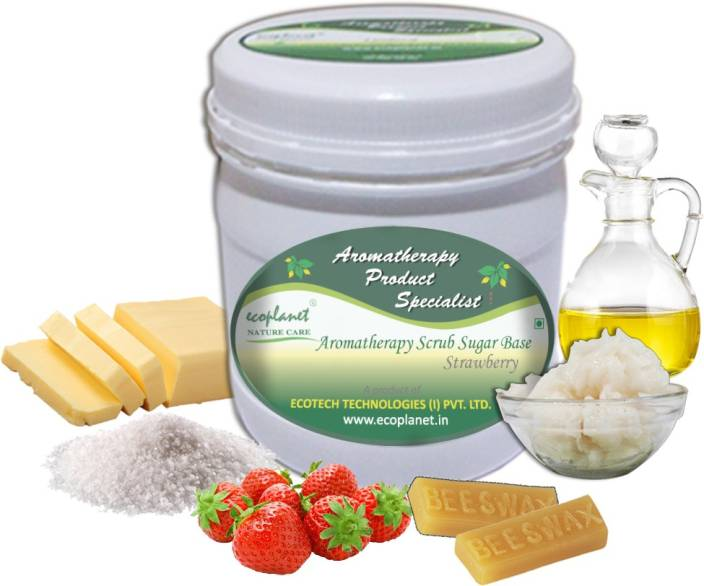 ecoplanet Aromatherapy Scrub Sugar Base Strawberry Scrub
