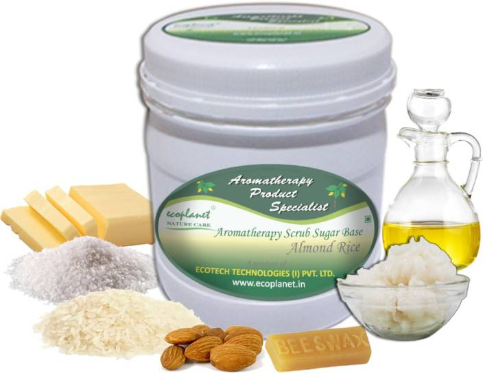 ecoplanet Aromatherapy Scrub Sugar Base Almond Rice Scrub