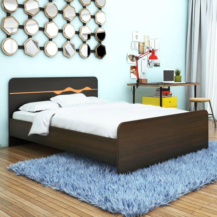 HomeTown Swirl Engineered Wood Queen Bed