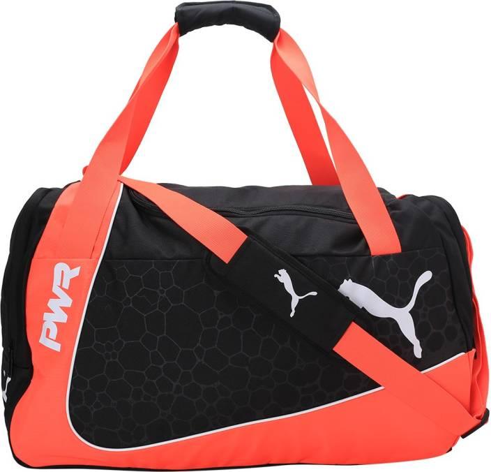 54c572bae21a Puma evoPOWER Medium Bag Gym Bag Fiery Coral-Puma Black-Puma White ...