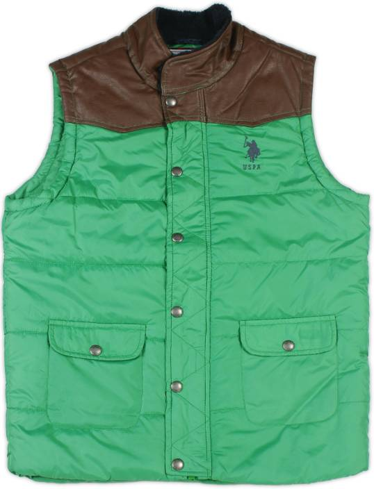 US Polo Kids Sleeveless Boys Jacket