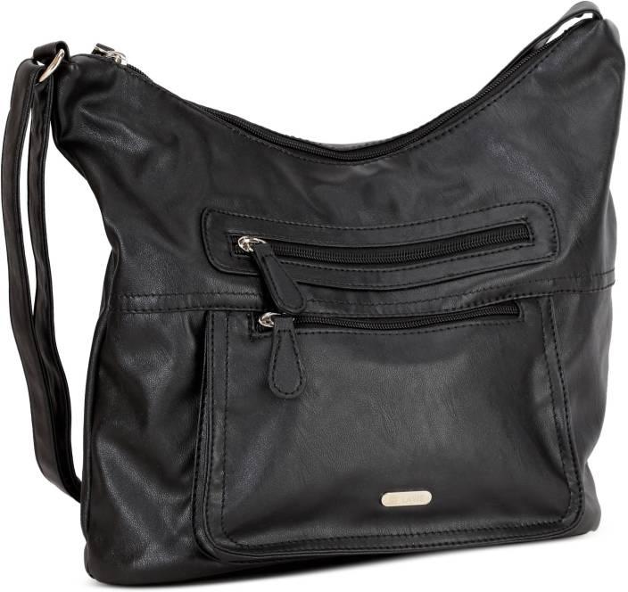 Lavie Women Black PU Sling Bag