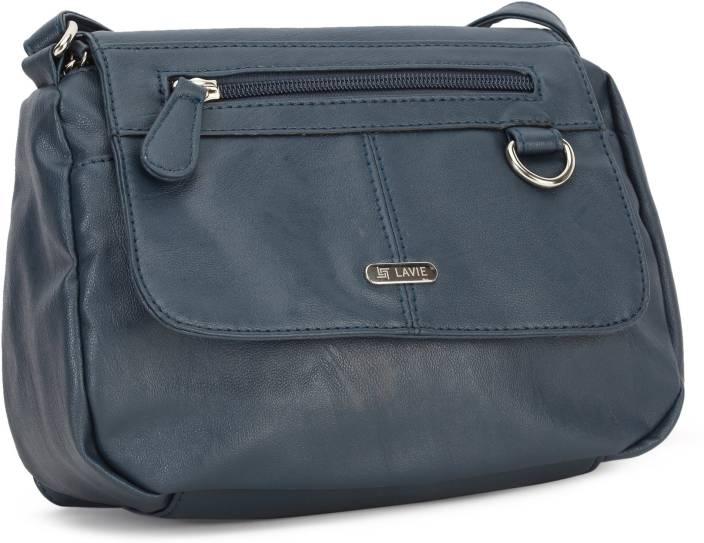 Lavie Women Blue PU Sling Bag