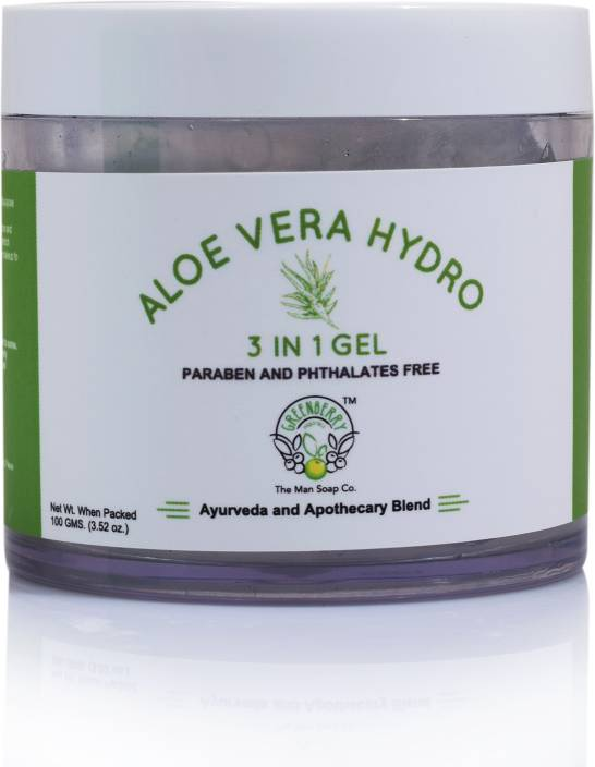 greenberry organics 3 in 1 miracle aloe vera gel for face body and