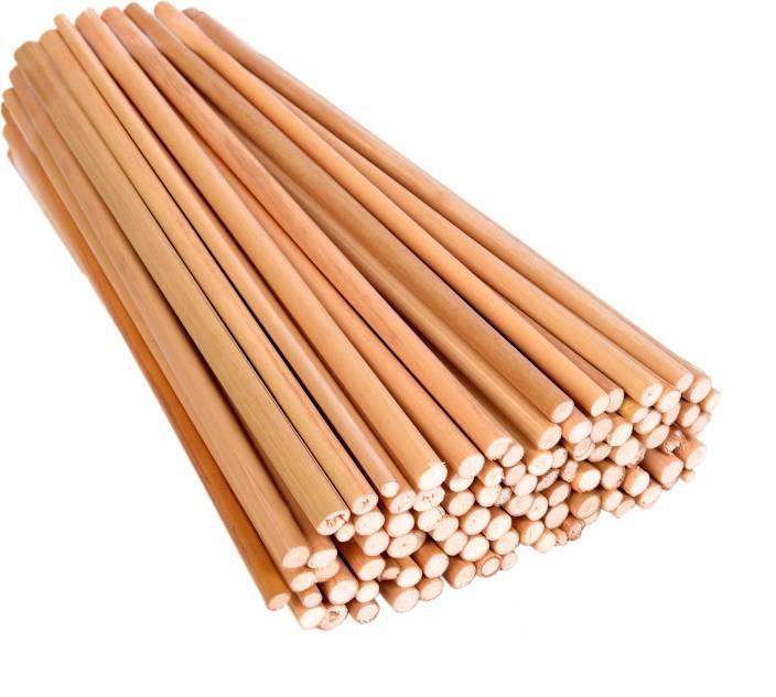 "Vardhman Bamboo sticks, 100 pcs , 9"" length Unfinished Round Sticks for DIY Model Building Craft, hobby, scrapbooking,"