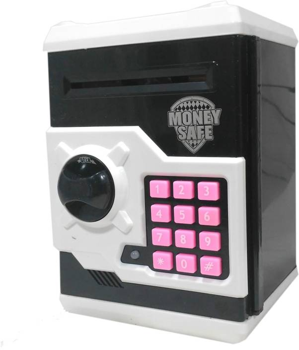 Halo Nation Atm Bank Smart Electronic Lock Piggy For Coin Note Safe With Locker