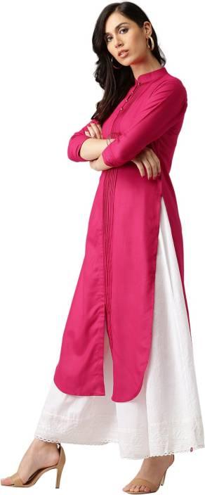 Libas Solid Women's Pathani Kurta