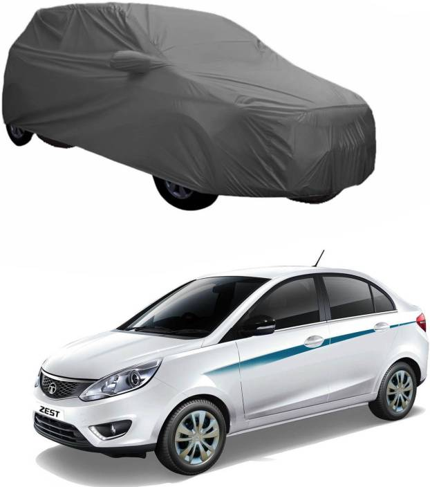 Adroitz Car Cover For Tata Zest With Mirror Pockets