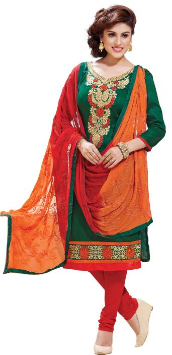 Oomph! Cotton Embroidered Salwar Suit Dupatta Material