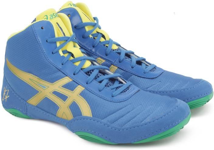 Asics Shoes Shop UK Asics Jb Elite V2 0 Men's J501N 4294 Classic Blue/Rich Gold/Sun Wrestling Shoe