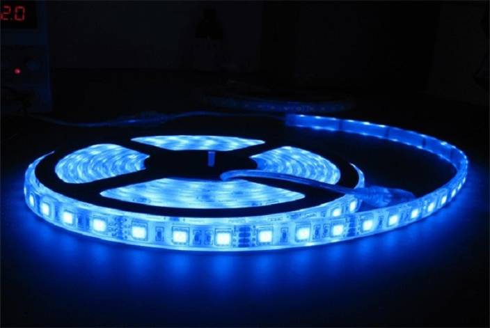 Fancy 200 inch Blue Rice Lights