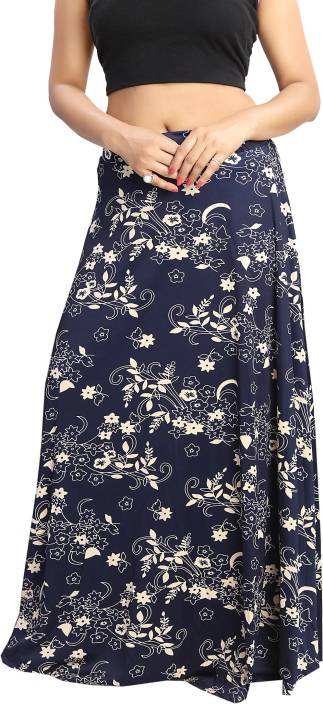 Shopping World Printed Women's Regular Multicolor Skirt