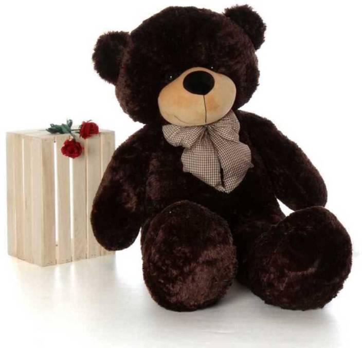 13071fda541 AVS 4 Feet Stuffed Spongy Huggable Cute Teddy Bear Birthday Gifts Girls  Lovable Special Gift High Quality (Chocolate Color) - 122 cm (Chocolate)