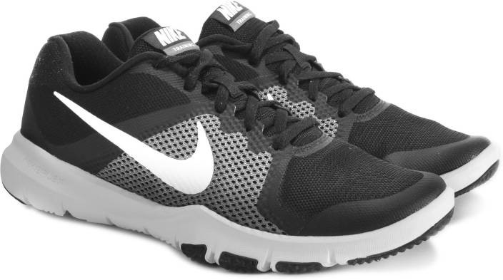 eb6d61445b30 Nike FLEX CONTROL Running Shoes For Men - Buy BLACK WHITE-DARK GREY ...