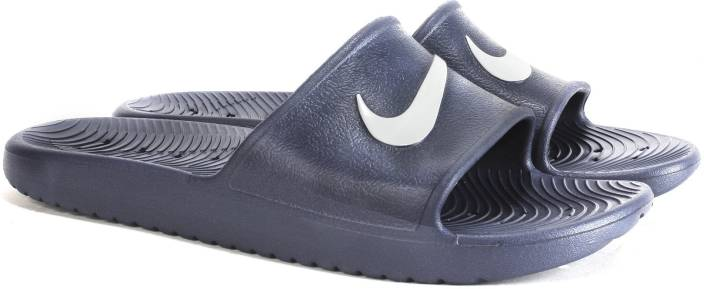 e3b3880557ac12 Nike KAWA SHOWER Slides - Buy NAVY WHITE Color Nike KAWA SHOWER Slides  Online at Best Price - Shop Online for Footwears in India
