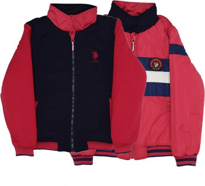 US Polo Kids Full Sleeve Striped Boys Jacket