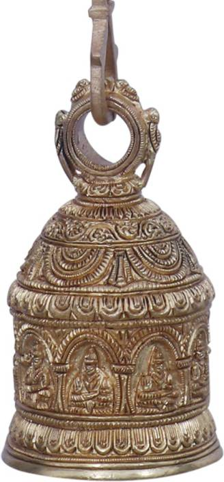 c7745f55b42 Ratnatraya Indian Small Brass Bell Hanging For Pooja Room and Living Room