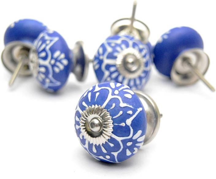 Casa Decor Pack Of 6 Ceramic Knobs Hand Painted Ceramic Knobs