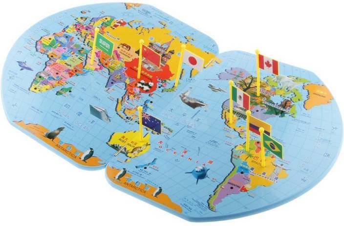 Trinkets more wooden world map with 36 flags puzzle teach trinkets more wooden world map with 36 flags puzzle teach geography educational gumiabroncs Image collections