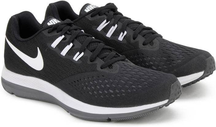 9112b113103a Nike AIR ZOOM WINFLO 4 Running Shoes For Men - Buy BLACK WHITE-DARK ...