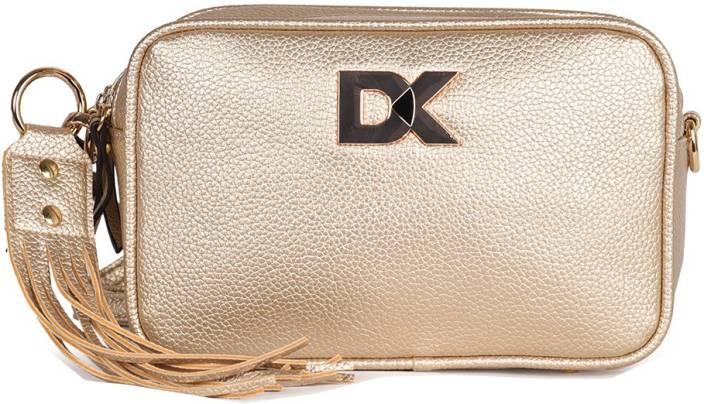 Diana Korr Women Gold PU Sling Bag