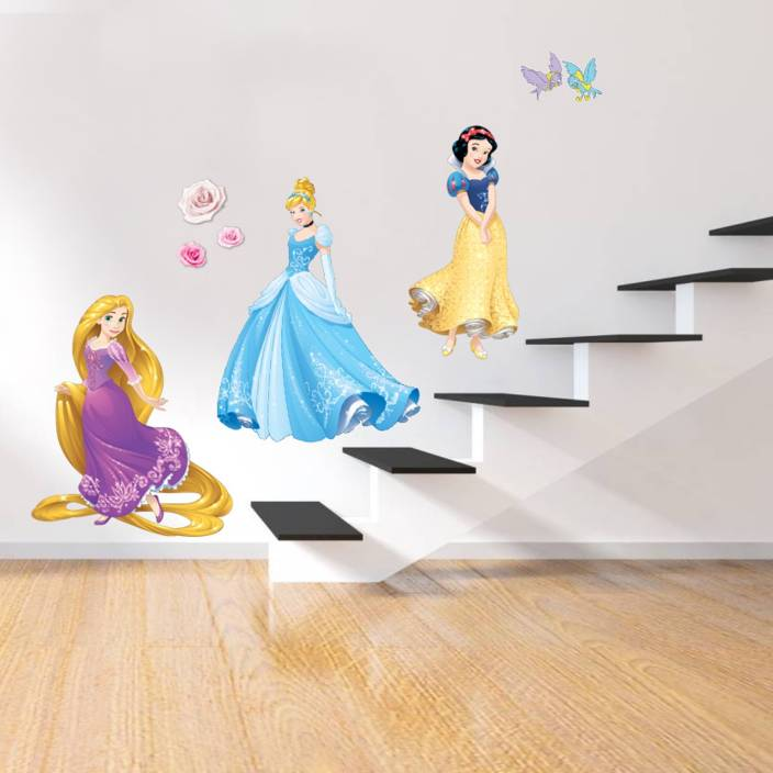 "flipkart smartbuy large ""princesses"" digital printed pvc vinyl"