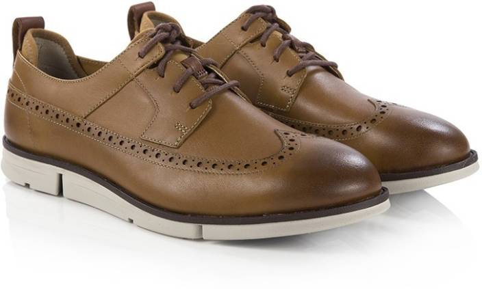 Clarks Trigen Limit Cognac Leather Outdoors For Men