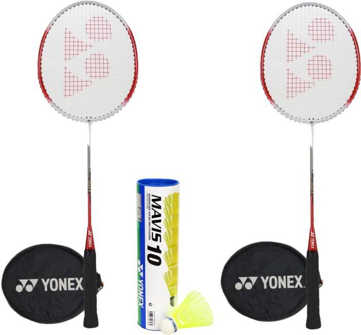 Yonex GR301 Mavis Combo Badminton Kit(2 Badminton Racquets,1 Mavis 10 Shuttlebox (Pack of 6) Badminton Kit