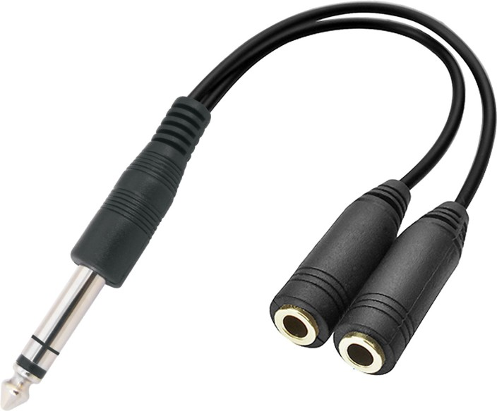 """Stereo 1//4/""""Male~Dual RCA Female Audio//Headphone//PA cable//cord//wire Adapter,6.3mm"""