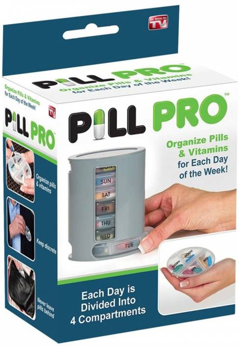 e1b28fe9c0d29 Wishpool Daily PILL PRO Pill Organiser Pill Box 7 Day Compartments Tablet  Holder Pill Box (Multicolor)