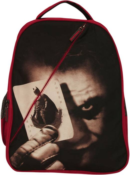 Planet Superheroes Joker with Batman Card 24.5 L Backpack (Black 078f76153e7e