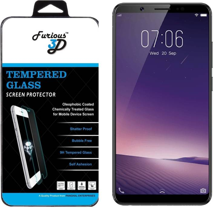 Furious3D Tempered Glass Guard for VIVO V7 Plus