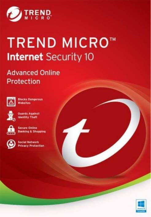 Trend Micro Internet Security 3 PC 1 Year TMIS1PC1YR