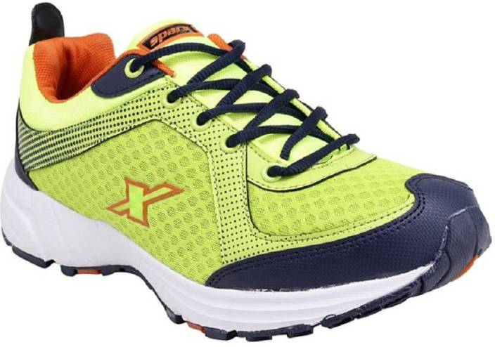 Sparx 100 % original SM-213 Green Orange Sport Running Shoes For Men