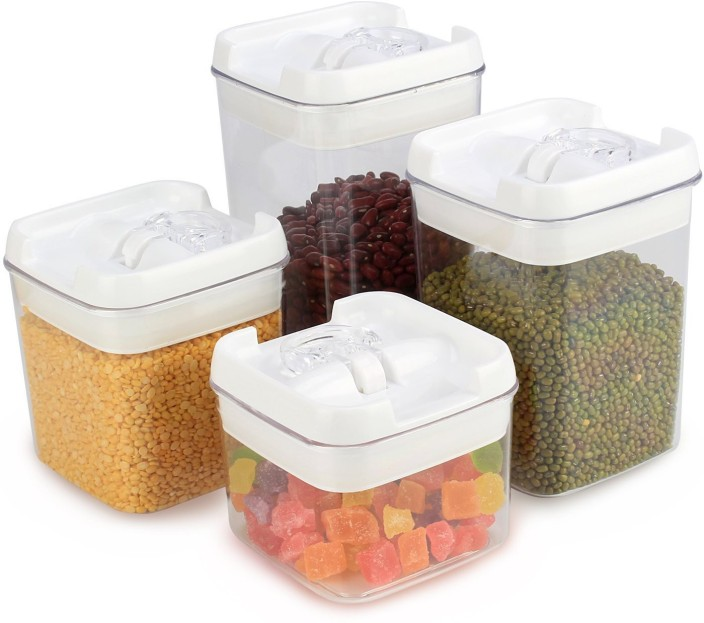 HOKIPO Plastic Airtight Kitchen Storage Container Set Storage Box