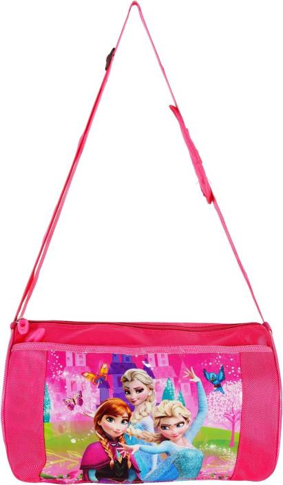 461fe39a67a4 okji enterprises OKJI Frozen printed Duffle Bag Travelling bag Sling bag  Sports   Outdoor bag for Kids Sling Bag (Pink