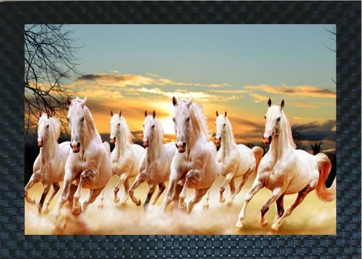 Adorncraft Vastu Seven Running Horses Lucky For Houses Digital