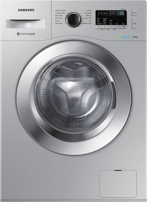 Samsung 6 kg Fully Automatic Front Load Washing Machine Silver