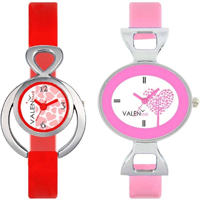 VALENTIME VT14-30 Colorful Beautiful Womens Combo Wrist Watch  - For Girls