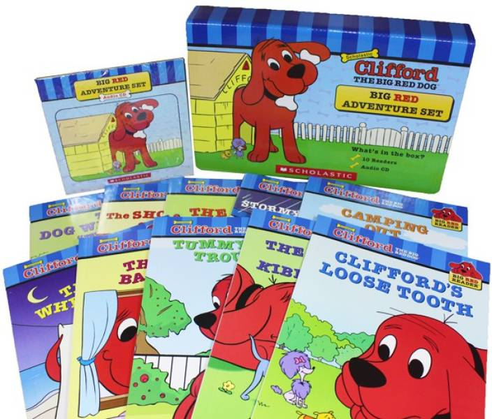 CLIFFORD THE BIG RED DOG: BIG RED ADVENTURE SET 10 BOOKS