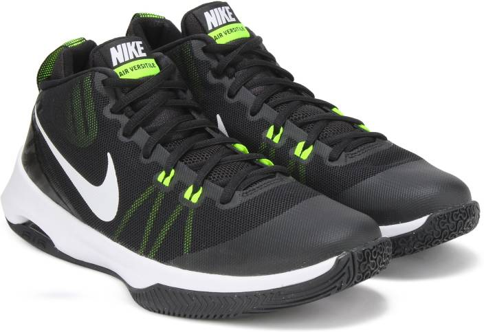 Nike AIR VERSITILE Basketball Shoes For Men - Buy BLACK   WHITE-VOLT ... 612eedb26
