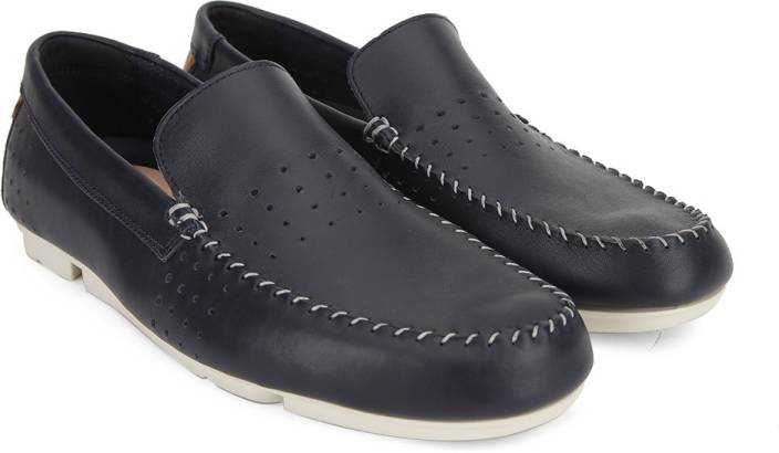 660b6071db2f3 Clarks Trimocc Sun Navy Leather Loafers For Men - Buy Navy Color ...