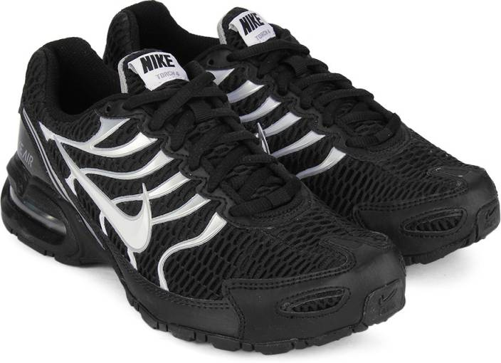 Nike WMNS AIR MAX TORCH 4 Running Shoes For Women - Buy BLACK WHITE ... 0b5da8670