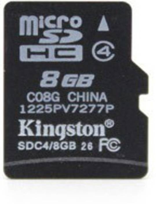 382ad26ff Kingston 8 GB MicroSD Card Class 4 4 MB s Memory Card - Kingston    Flipkart.com