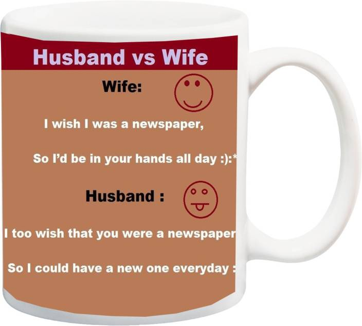 Stylotrendz Husband Vs Wife Funny Quotes Perfect Gift For Karva