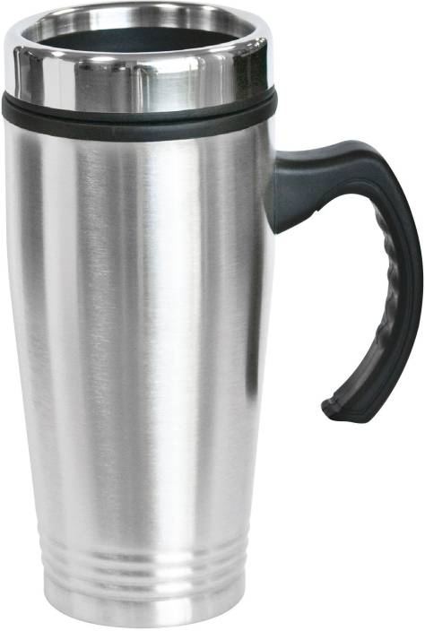 beecc0cfdf9 VibeX ® Anti Slip Special Grip Stainless Steel Coffee Travel 20 Oz Double  Wall Insulated Tumbler with BONUS Sliding Lid Stainless Steel Mug (500 ml