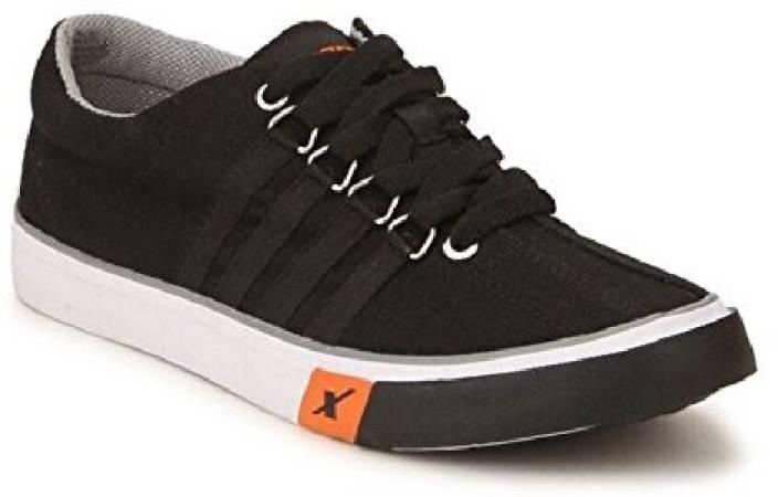 Sparx 100 % Original SM-162 Black canvas Casual Sneakers For Men