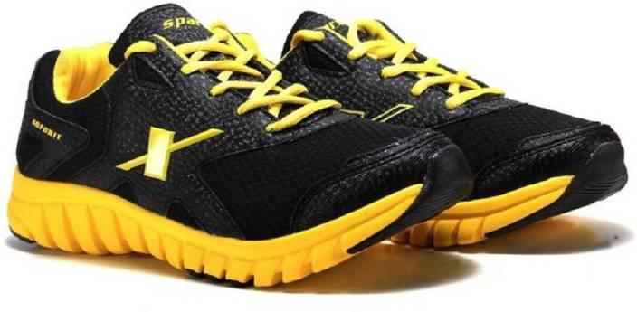 Sparx 100 % Original SM-185 Black Yellow Sport Running Shoes For Men