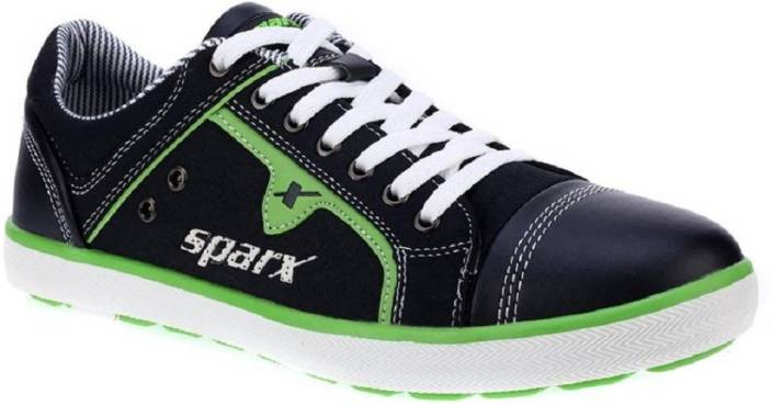 Sparx 100 % Original SM-229 Navy Blue Green canvas Casual Sneakers For Men